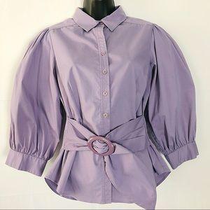 Kenar Tops - Trendy Lilac Color PUFF SLEEVE top